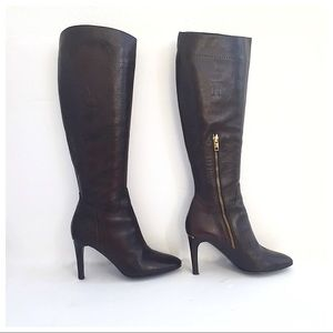 Stunning Burberry Leather Knee High Boots